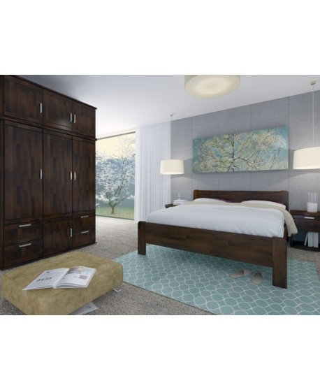 Manželská postel KARIN Senior HP 163B - moření WENGE