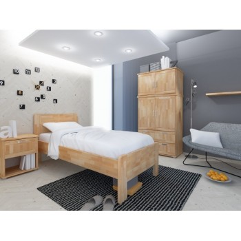 Zvýšená postel KARIN 90 HP 164B, BUK Cink