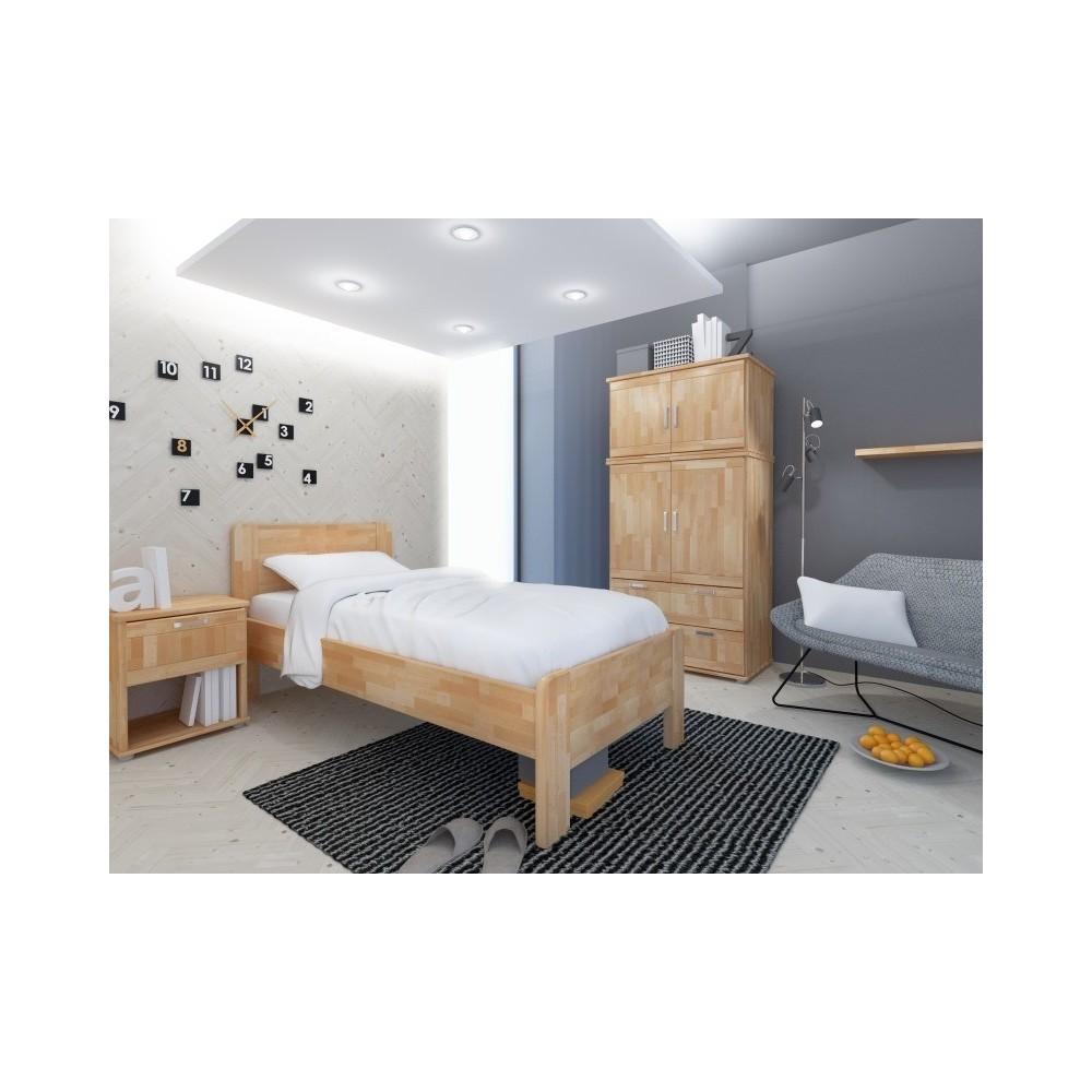 Zvýšená postel KARIN 120 HP 164B, BUK Cink