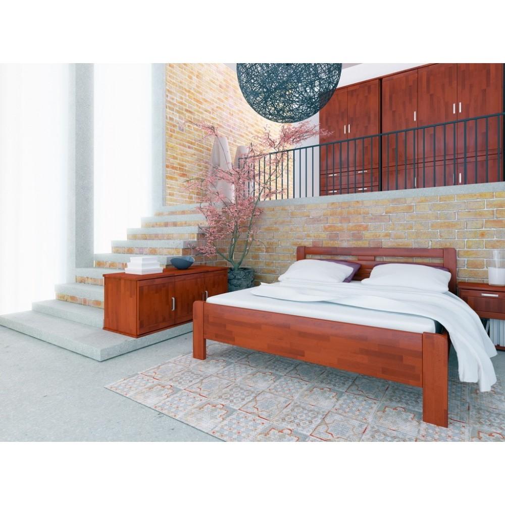 Manželská postel KATE - moření TŘEŠEŇ