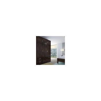 Třídveřová skříň ALFA 3D GRAND - moření WENGE