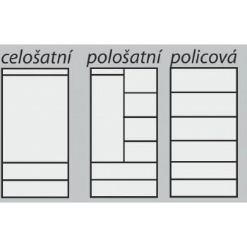 Pološatní skříň ALFA 2D PRAKTIK - Vnitřní uspořádání