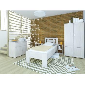 Celošatní skříň BETA 2D GRAND - Bílá Transparentní