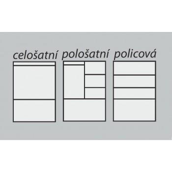 Policová skříň BETA 2D GRAND - Vnitřní uspořádání