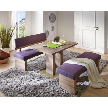 TRIO - Moderní rovná lavice s opěrem