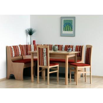 Jídelní stůl BARCELONA + lavice HALLE + židle NELA