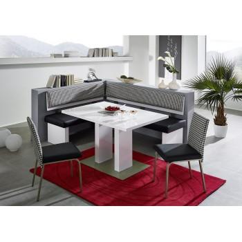 Jídelní Stůl HECTOR s kovovou základovou deskou + Lavice TRIO