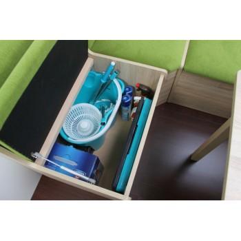 Rohová lavice BIG BOX - úložný prostor s písty