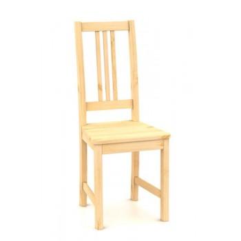 B164 - Celodřevěná jídelní židle, borovice