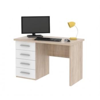 Počítačový stůl ROLLO, Dub Sonoma + Bílá