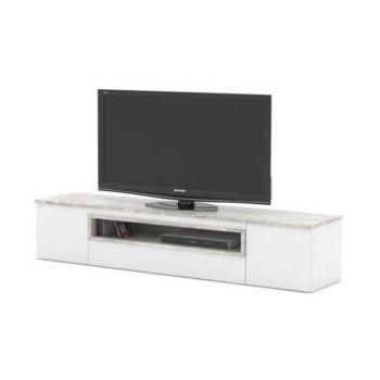 TV stolek s oknem FS04 bílá-beton