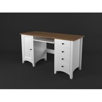 Stylový psací stůl velký PROVENCE - BÍLÁ + RUSTIKAL