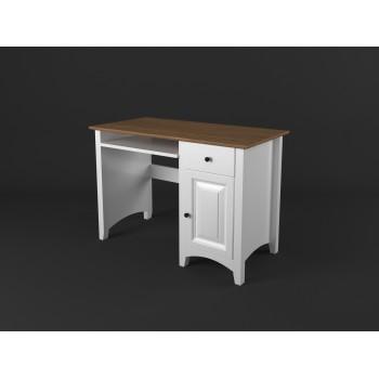 Stylový psací stůl PROVENCE - BÍLÁ + RUSTIKAL