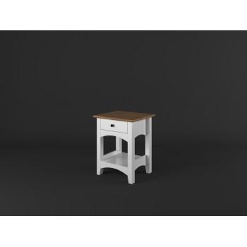 Stylový noční stolek PROVANCE - BÍLÁ + RUSTIKAL