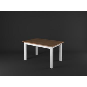 Stylový jídelní stůl obdélník PROVENCE - BÍLÁ + RUSTIKAL