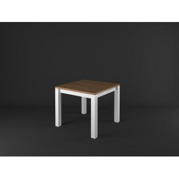 Stylový jídelní stůl čtverec PROVENCE - BÍLÁ + RUSTICAL
