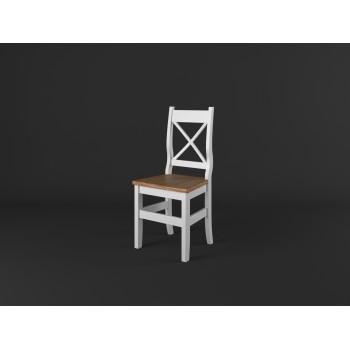 Stylová jídelní židle PROVENCE - BÍLÁ + RUSTIKAL