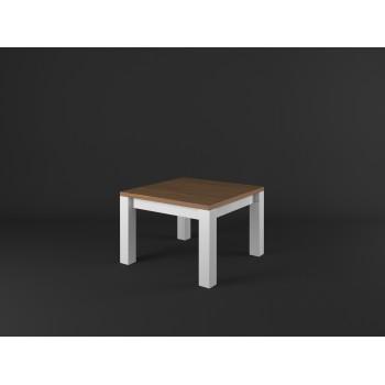 Konferenční stolek čtverec PROVENCE - BÍLÁ + RUSTIKAL