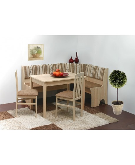 Lavice HALLE + stůl HUGO + židle RINGO