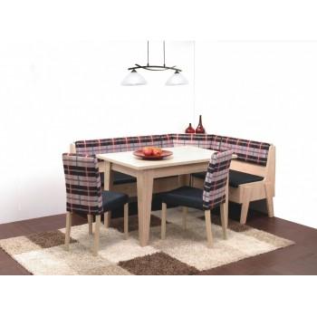 Rohová lavice MAXIM s velkým úložným prostorem + stůl MAXIM
