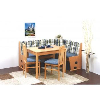 Akční sestava BADEN - Rohová lavice + jídelní stůl + 2 židle
