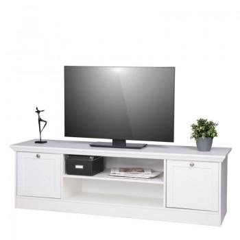 TV stolek LANDWOOD 17, bílá, Doprava ZDARMA