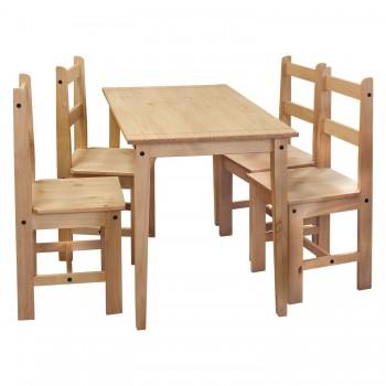 Stůl + 4 židle CORONA 2 vosk