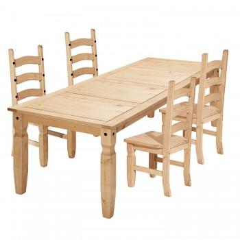 Jídelní stůl CORONA 16110 + 4 židle CORONA 160204