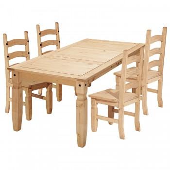 Jídelní stůl CORONA 16111 + 4 židle CORONA 160204