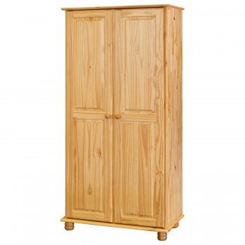 Šatní Skříň 2 dveřová na koulích 8860, masiv borovice,  Doprava ZDARMA