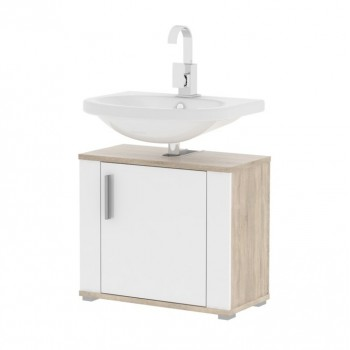 Koupelnová skříňka pod umyvadlo LESSY linda LI02, sonoma, bílá