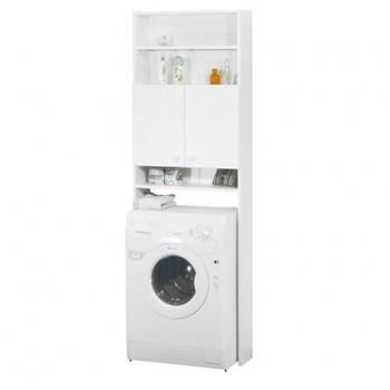 LU05 Koupelnová skříňka nad pračku nebo WC, lamino bílá