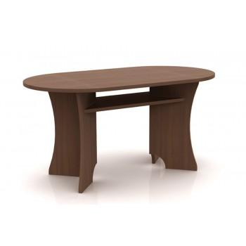 Konferenční stůl ovál s policí MARTIN K01
