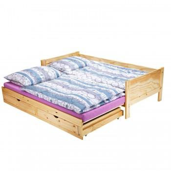 Multifunkční roztahovací postel DIANA 8891, borovice, Doprava ZDARMA