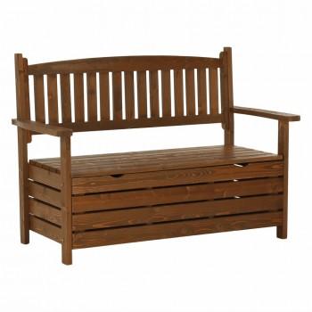 Zahradní lavička DILKA, hnědá, bílá, doprava ZDARMA