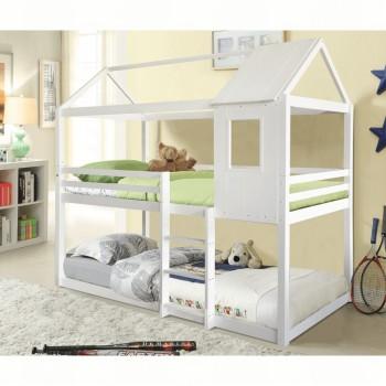 Montessori patrová postel ATRISA, bílá, doprava ZDARMA