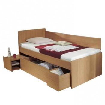 Zvýšená postel se zásuvkami OTO, buk, doprava ZDARMA