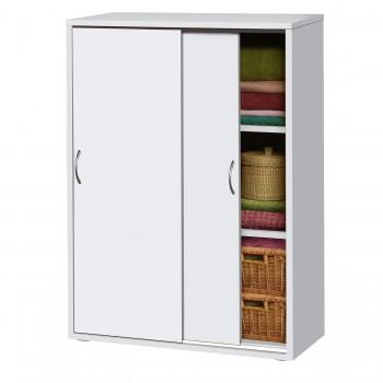 Skříňový prádelník 601, bílá, buk