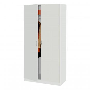 Šatní dvoudveřová skříň 216 bílá