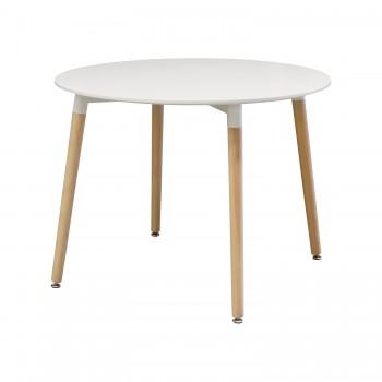 Jídelní stůl průměr 100 UNO bílý