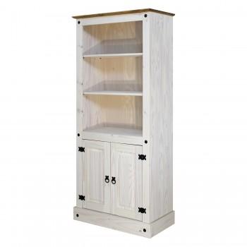 Knihovna CORONA 164716B, bílý vosk