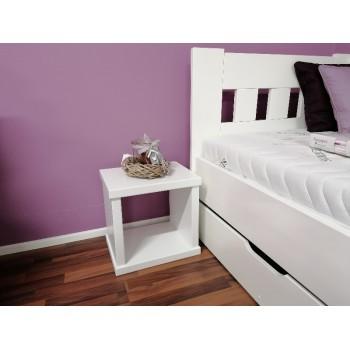 Noční stolek KAREL - jádrový BUK cink