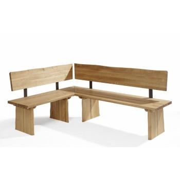 Rohová lavice OVIEDO z dubového masivu