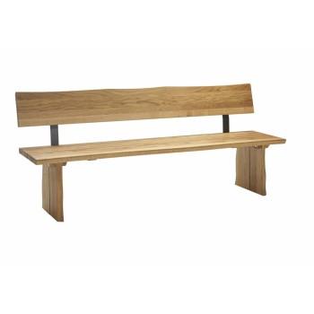 Rovná lavice OVIEDO z dubového masivu