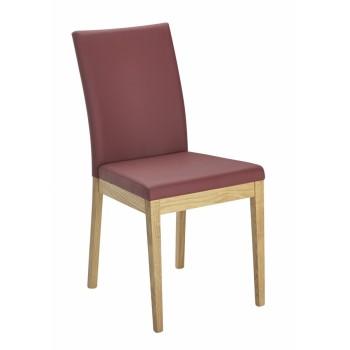 Čalouněná jídelní židle OVIEDO z dubového masivu