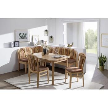 Rohová lavice KIRAS + stůl KIRAS + Židle KIRAS