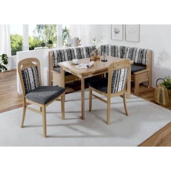 Rohová lavice TARAS + Jídelní stůl TARAS + Jídelní židle TARAS