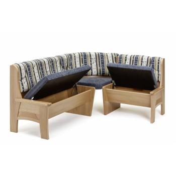 Rohová lavice TARAS s úložným prostorem