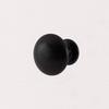Úchytka ČERNÁ kulatá - kombinace kov + porcelán