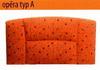 Rohová lavice - Typ čalounění A - výška lavice 87cm